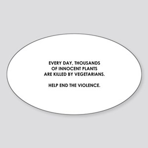 Help End The Violence Sticker (Oval)