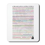 A Thousand Words is Worth IV Mousepad