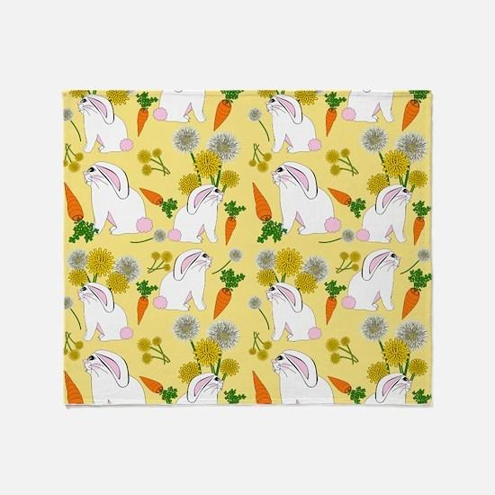 Bunnies and Rabbit Food Throw Blanket