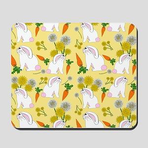 Bunnies and Rabbit Food Mousepad