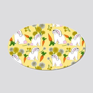 Bunnies and Rabbit Food 20x12 Oval Wall Decal