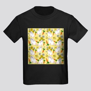 Bunnies and Rabbit Food on Yellow T-Shirt
