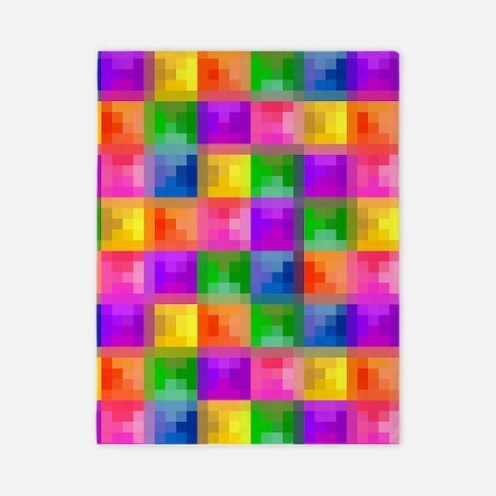 Jewel Tone Mosaic Pattern Twin Duvet