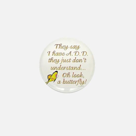 ADD Butterfly Mini Button