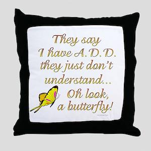ADD Butterfly Throw Pillow