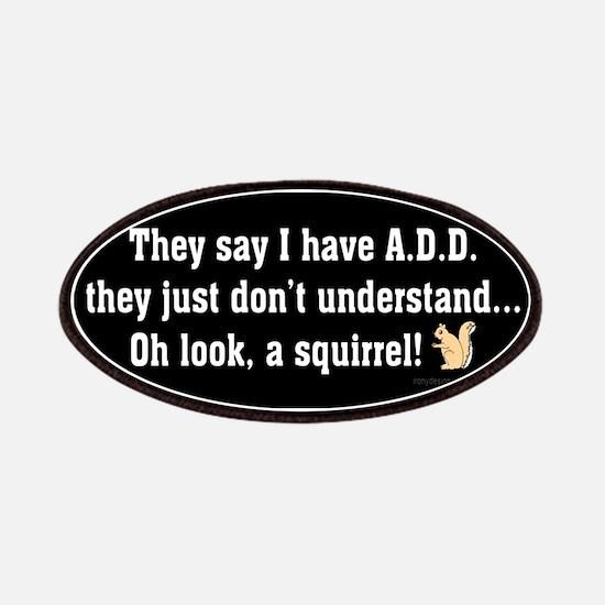 ADD Squirrel B/W Patches