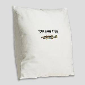 Custom Stickleback Fish Burlap Throw Pillow