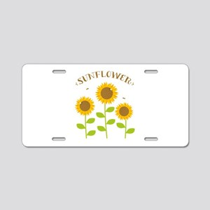 Sunflower Aluminum License Plate