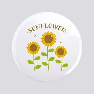 "Sunflower 3.5"" Button"