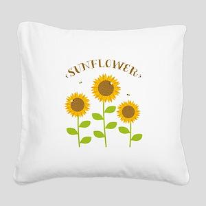 Sunflower Square Canvas Pillow