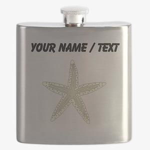 Custom White Starfish Flask