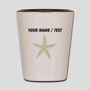 Custom White Starfish Shot Glass