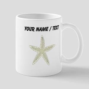 Custom White Starfish Mugs