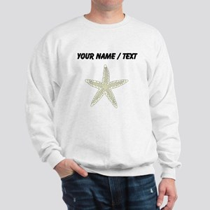 Custom White Starfish Sweatshirt