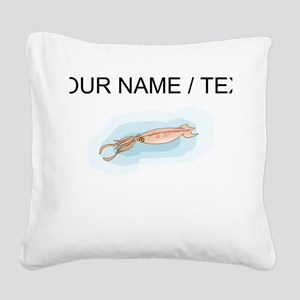 Custom Squid Square Canvas Pillow