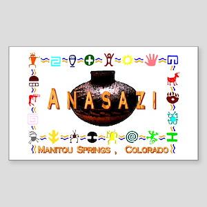 Anasazi Art Manatou Springs , Sticker (Rectangular