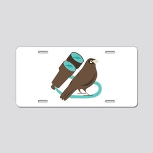 Binoculars Bird Aluminum License Plate