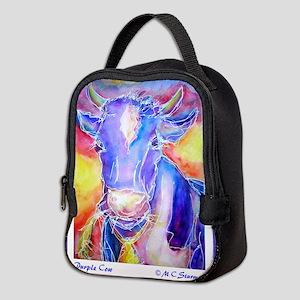 purple cow copy Neoprene Lunch Bag