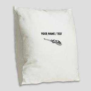 Custom Grey Squid Burlap Throw Pillow