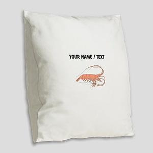 Custom Shrimp Burlap Throw Pillow