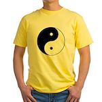 Black and White Yin Yang Yellow T-Shirt