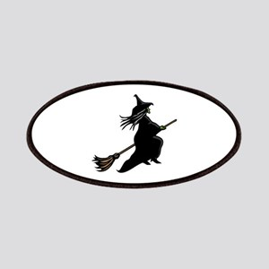 Witch On Broom Patches