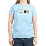 Orange Christmas Tractor Women's Light T-Shirt