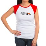Orange Christmas Tracto Women's Cap Sleeve T-Shirt