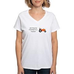 Orange Christmas Tractor Shirt