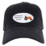 Orange Christmas Tractor Black Cap