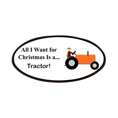 Orange Christmas Tractor Patches
