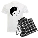 Black And White Yin Yang Men's Light Pajamas
