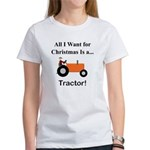 Orange Christmas Tractor Women's T-Shirt