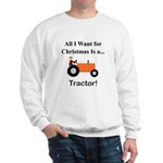 Orange Christmas Tractor Sweatshirt
