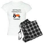 Orange Christmas Tractor Women's Light Pajamas
