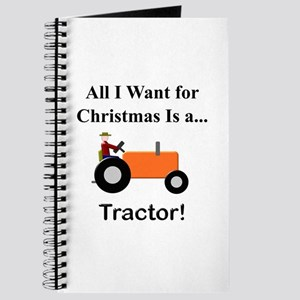 Orange Christmas Tractor Journal