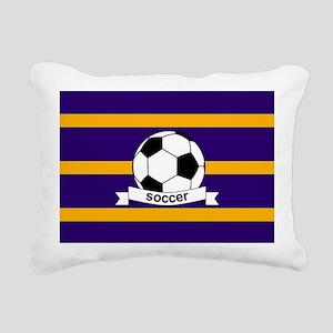 Soccer Ball Banner purpl Rectangular Canvas Pillow