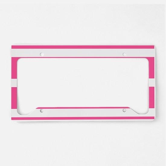 Soccer Ball Banner pink white License Plate Holder