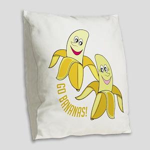 Go Bananas Burlap Throw Pillow