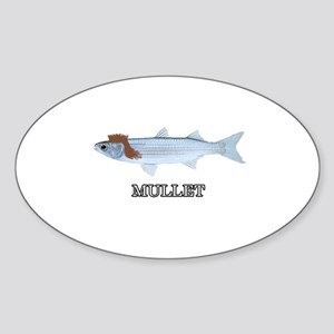 The REAL Mullet Oval Sticker
