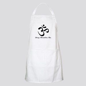Om: Breathe & Be. BBQ Apron
