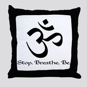 Om: Breathe & Be. Throw Pillow