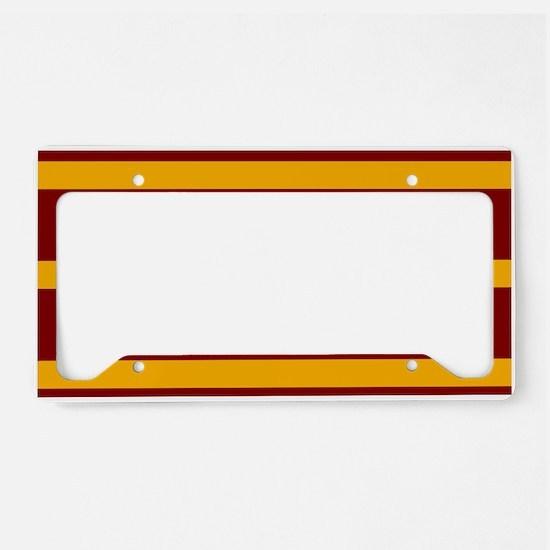 Soccer Ball Banner maroon gol License Plate Holder