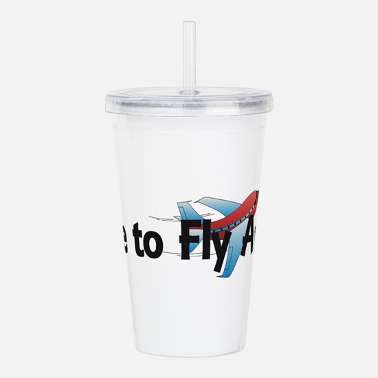 Time to Fly Away Acrylic Double-wall Tumbler