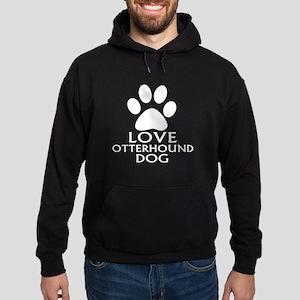 Love Otterhound Dog Hoodie (dark)