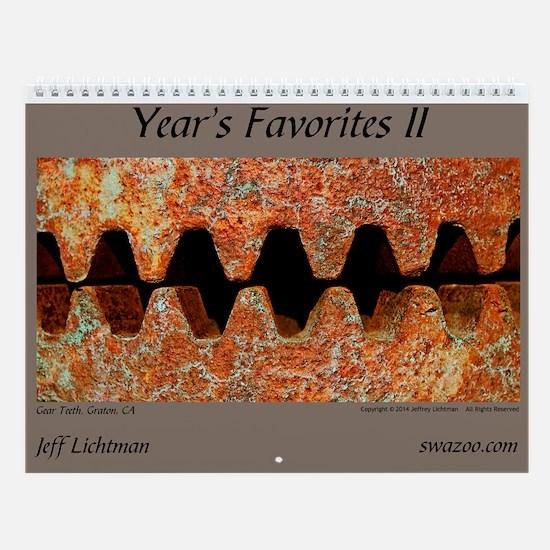 Year's Favorites 2 Wall Calendar