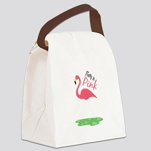 Pretty In Pink Canvas Lunch Bag