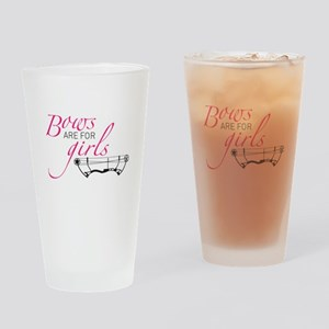Womens: Bows are for Girls Drinking Glass