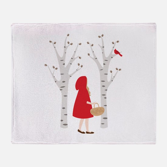 Red Riding Hood Throw Blanket