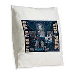 Its OK Burlap Throw Pillow